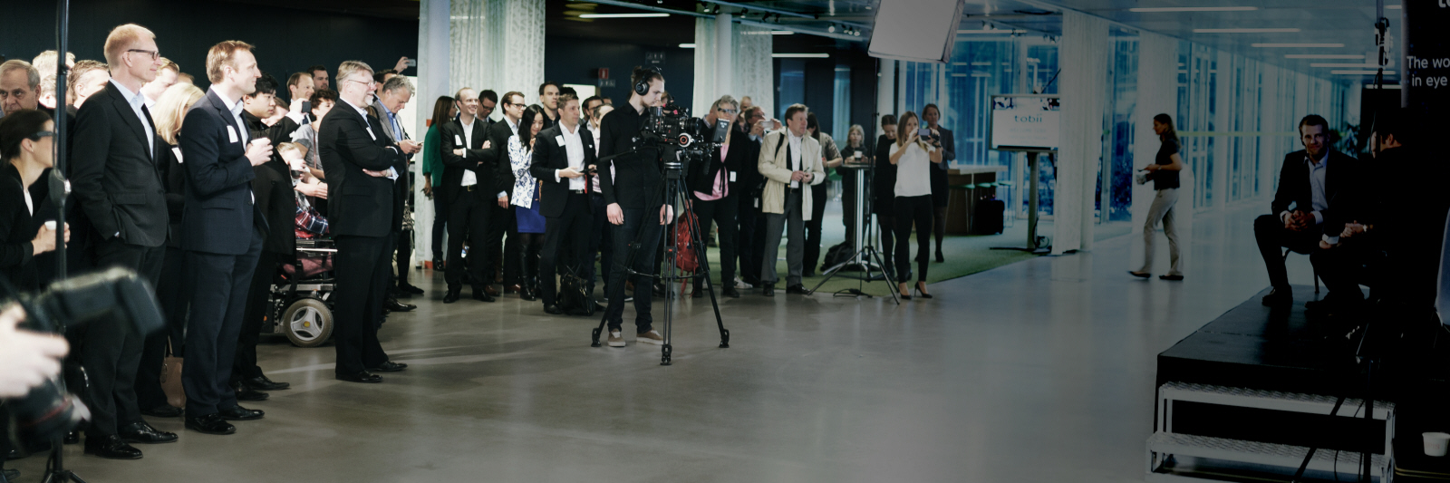 Audience at Tobii event