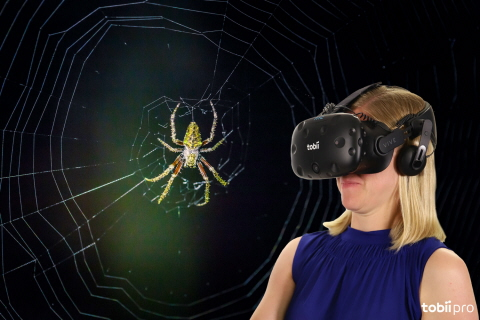 Tobii Pro Lab VR 360 is used to study and treat spider phobia