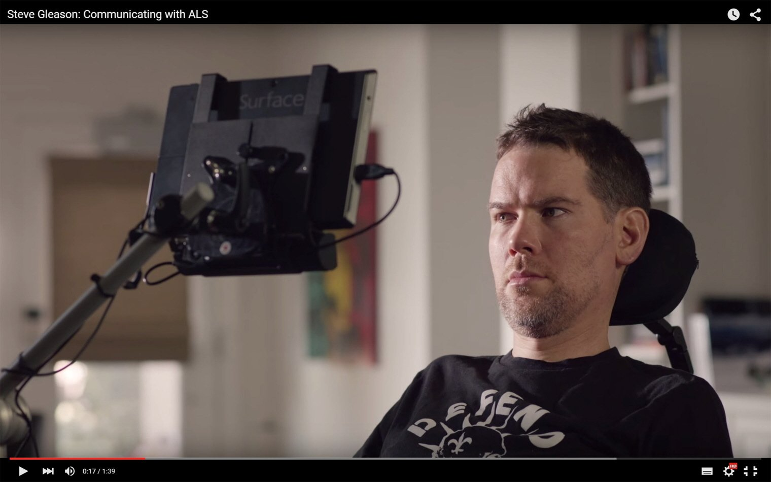 Steve Gleason - communicating with ALS